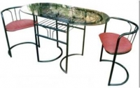 Model: Console table with two chairs