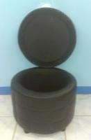 Model: Round storage bench