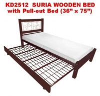 """Model: KD2512 SURIA PULL-OUT BED  (36""""/36"""")"""