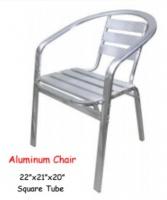 Model: ALUMINUM CHAIR square tube